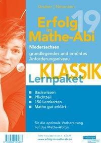 Erfolg im Mathe-Abi 2019 Niedersachsen grundlegendes und erhöhtes Anforderungsniveau Lernpaket Klassik, 3 Teile