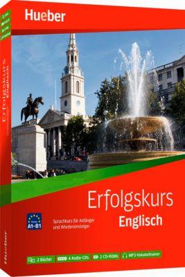 Erfolgskurs Englisch, 2 Übungsbücher + 4 Audio-CDs + 2 CD-ROMs