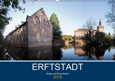 ERFTSTADT - Burgen und Bürgerhäuser (Wandkalender 2019 DIN A2 quer), U boeTtchEr, U. Boettcher