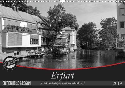 Erfurt - altehrwürdiges Flächendenkmal (Wandkalender 2019 DIN A3 quer), Flori0