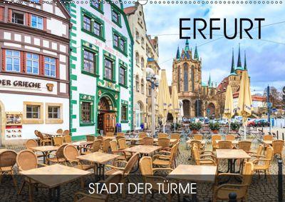 Erfurt - Stadt der Türme (Wandkalender 2019 DIN A2 quer), Val Thoermer