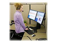 ERGOTRON LX Triple Lift Stand fuer 3 Monitore bis 53,3cm 21Zoll oder 2 Breitbildschirme  bis 76,2cm 30 Zoll schwarz Tischstaender - Produktdetailbild 8