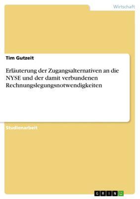 Erläuterung der Zugangsalternativen an die NYSE und der damit verbundenen Rechnungslegungsnotwendigkeiten, Tim Gutzeit