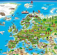 Erlebniskarte illustrierte Weltkarte, Planokarte - Produktdetailbild 1