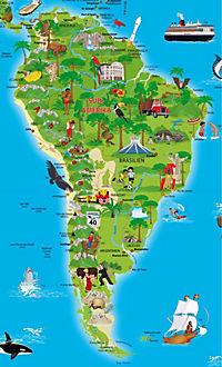 Erlebniskarte illustrierte Weltkarte, Planokarte - Produktdetailbild 2