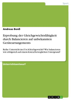 Erprobung der Gleichgewichtsfähigkeit durch Balancieren auf unbekannten Gerätearrangements, Andreas Bonß