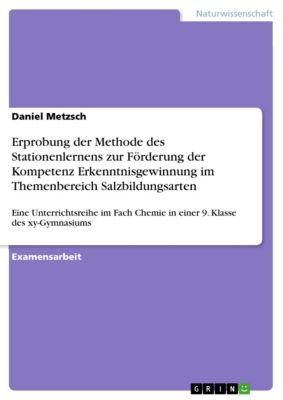 Erprobung der Methode des Stationenlernens zur Förderung der Kompetenz Erkenntnisgewinnung im Themenbereich Salzbildungsarten, Daniel Metzsch