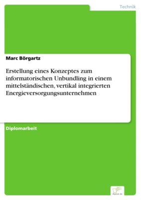 Erstellung eines Konzeptes zum informatorischen Unbundling in einem mittelständischen, vertikal integrierten Energieversorgungsunternehmen, Marc Börgartz