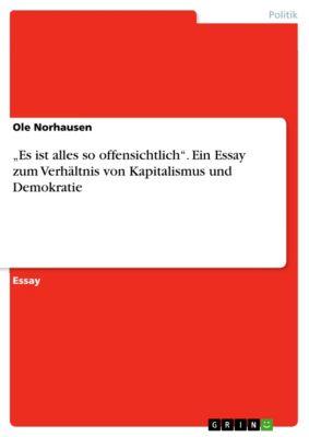 """""""Es ist alles so offensichtlich"""". Ein Essay zum Verhältnis von Kapitalismus und Demokratie, Ole Norhausen"""