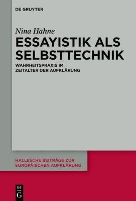 Essayistik als Selbsttechnik, Nina Hahne