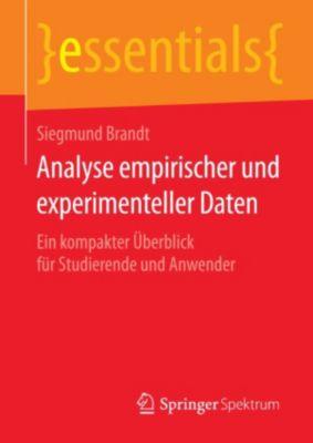 essentials: Analyse empirischer und experimenteller Daten, Siegmund Brandt