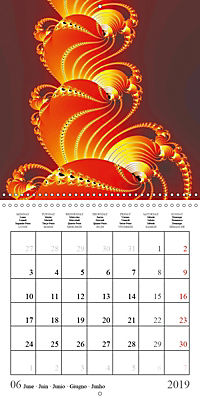 Esthetic Chaos Rosy Dawn (Wall Calendar 2019 300 × 300 mm Square) - Produktdetailbild 6