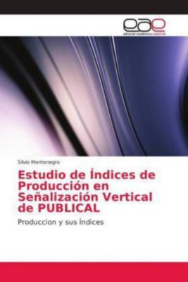 Estudio de Índices de Producción en Señalización Vertical de PUBLICAL, Silvio Montenegro