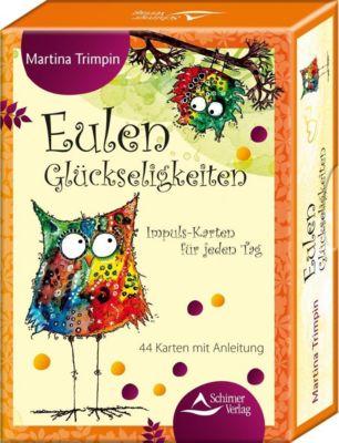 Eulen-Glückseligkeiten, 44 Meditationskarten m. Anleitung, Martina Trimpin