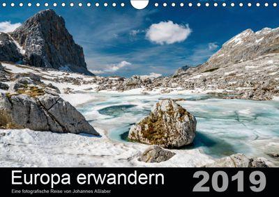 Europa erwandernAT-Version (Wandkalender 2019 DIN A4 quer), Johannes Asslaber