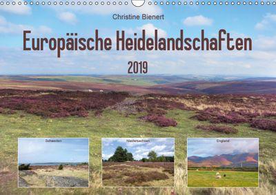 Europäische Heidelandschaften (Wandkalender 2019 DIN A3 quer), Christine Bienert