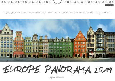 Europe Panorama 2019 / UK-Version (Wall Calendar 2019 DIN A4 Landscape), Jörg Rom