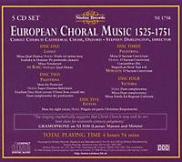 European Choral Music 1525-175 - Produktdetailbild 1