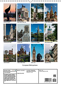 European Metropolises (Wall Calendar 2019 DIN A3 Portrait) - Produktdetailbild 13