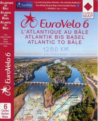 EuroVelo 6 (Atlantic - Basel) 1:100 000 - Huber Kartographie pdf epub