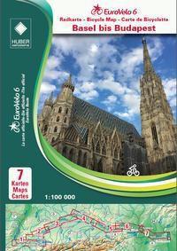 EuroVelo 6 (Basel - Budapest) 1: 100 000, 7 Teile - Huber Kartographie GmbH  