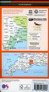 Exmouth and Sidmouth 1 : 25 000 - Produktdetailbild 1