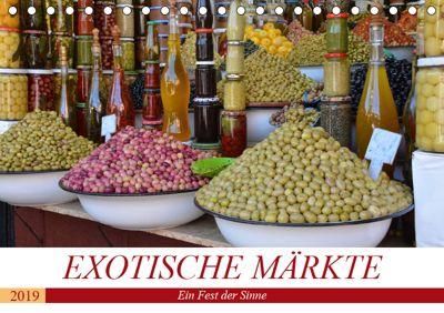 Exotische Märkte (Tischkalender 2019 DIN A5 quer), Ingrid Franz