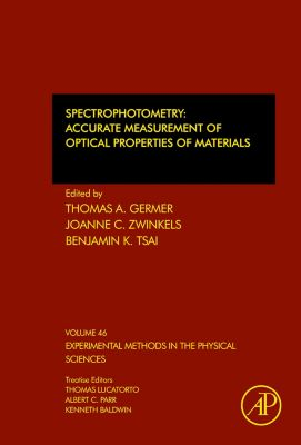 Experimental Methods in the Physical Sciences: Spectrophotometry