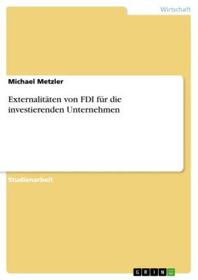 Externalitäten von FDI für die investierenden Unternehmen, Michael Metzler