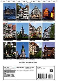 Fachwerk in Süddeutschland (Wandkalender 2019 DIN A4 hoch) - Produktdetailbild 13