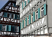 Fachwerk und Fensterläden in Herrenberg (Wandkalender 2019 DIN A3 quer) - Produktdetailbild 4