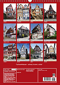 Fachwerkhäuser - schmal, krumm, schief (Wandkalender 2019 DIN A3 hoch) - Produktdetailbild 13