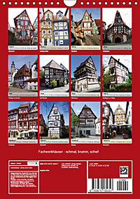 Fachwerkhäuser - schmal, krumm, schief (Wandkalender 2019 DIN A4 hoch) - Produktdetailbild 13