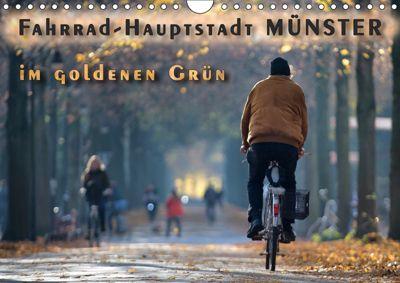Fahrrad-Hauptstadt MÜNSTER im goldenen Grün (Wandkalender 2019 DIN A4 quer), Viktor Gross