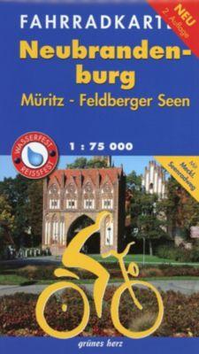 Fahrradkarte Neubrandenburg, Müritz, Feldberger Seen