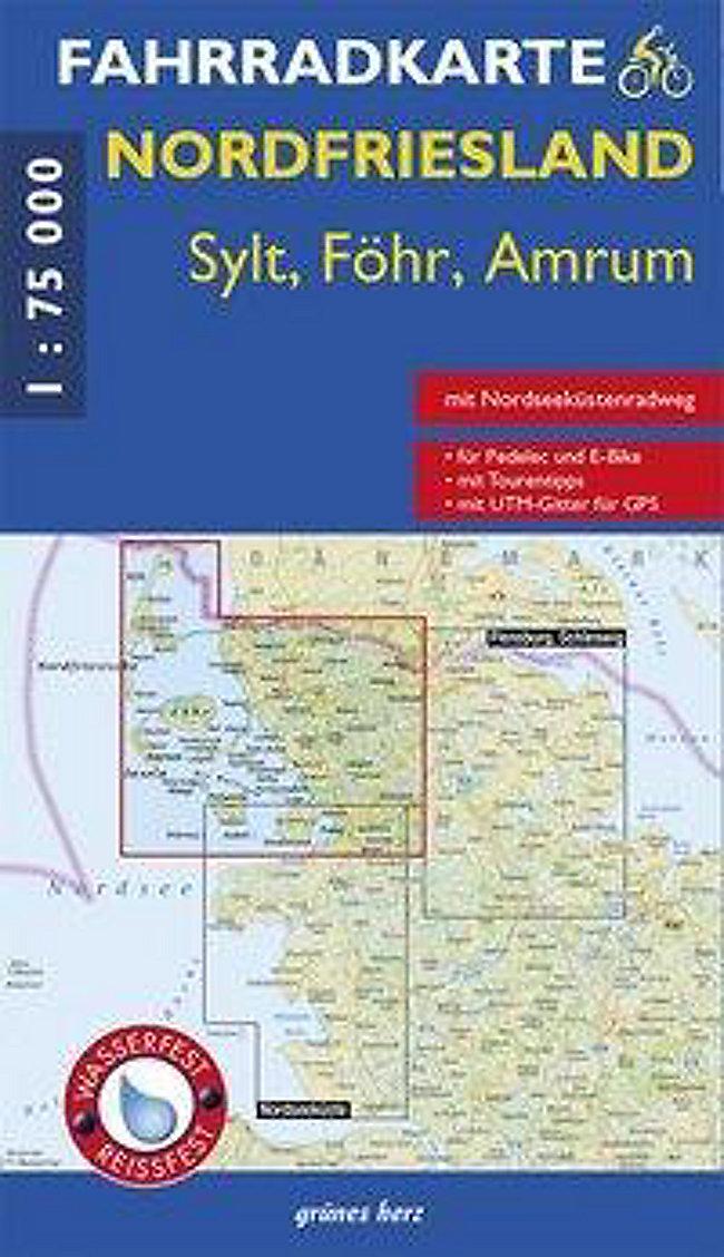Karte Sylt Amrum.Fahrradkarte Nordfriesland Sylt Föhr Amrum Buch Weltbild De