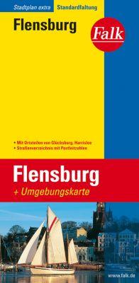 Falk Stadtplan Extra Standardfaltung Flensburg mit Ortsteilen von Glücksburg -  pdf epub