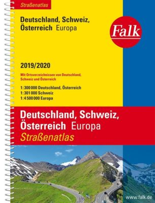 Falk Straßenatlas Deutschland, Schweiz, Österreich, Europa 2019/2020 1 : 300 000