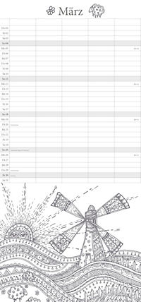 """Familienplaner """"Ausmalen und Entspannen"""" - Produktdetailbild 3"""