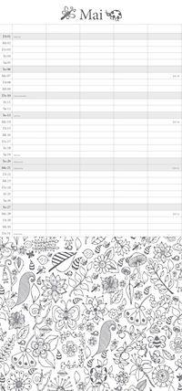 """Familienplaner """"Ausmalen und Entspannen"""" - Produktdetailbild 5"""