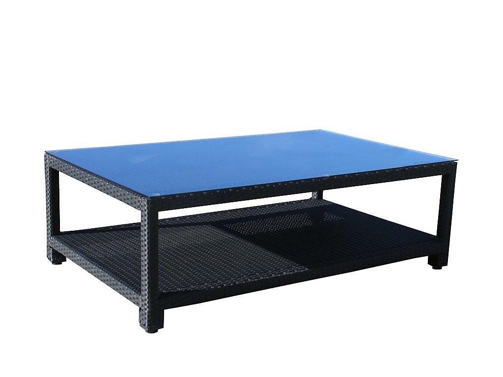 Famous Home Rattan Lounge Tisch 140x90cm Lanzarote Couchtisch