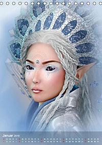 Fantasy Art Portraits (Tischkalender 2019 DIN A5 hoch) - Produktdetailbild 1