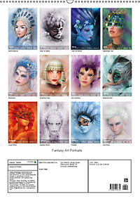 Fantasy Art Portraits (Wandkalender 2019 DIN A2 hoch) - Produktdetailbild 13