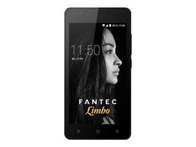 FANTEC LIMBO Smartphone 12,7cm 5Zoll QuadCore 1,3GHz 16GB 8MP Kam. 5MP Frontkam. Android 7.0 DualSIM 2200mAh Akku AluRuecks. schwarz