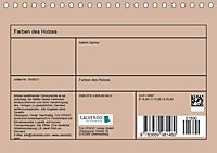 Farben des Holzes (Tischkalender 2019 DIN A5 quer) - Produktdetailbild 13