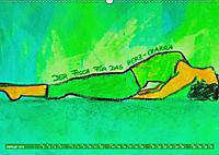 Farbige Yoga Kraftwelt - Yoga Asanas für die Chakren (Wandkalender 2019 DIN A2 quer) - Produktdetailbild 1