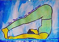 Farbige Yoga Kraftwelt - Yoga Asanas für die Chakren (Wandkalender 2019 DIN A2 quer) - Produktdetailbild 2