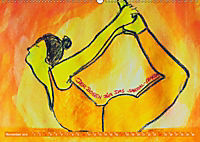 Farbige Yoga Kraftwelt - Yoga Asanas für die Chakren (Wandkalender 2019 DIN A2 quer) - Produktdetailbild 11