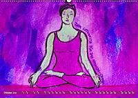 Farbige Yoga Kraftwelt - Yoga Asanas für die Chakren (Wandkalender 2019 DIN A2 quer) - Produktdetailbild 10
