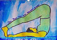 Farbige Yoga Kraftwelt - Yoga Asanas für die Chakren (Wandkalender 2019 DIN A3 quer) - Produktdetailbild 2